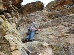 Rock Climbing Photo: First piece, near the bottom.