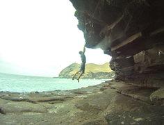 Rock Climbing Photo: On Darkness Trembles (V5), Pucusana.