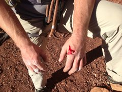 Rock Climbing Photo: Have to love SPLITTERS!  Bloody hands after attemp...