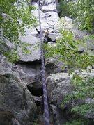 Rock Climbing Photo: Half way up The Bone.