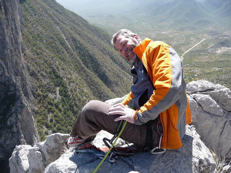 Rock Climbing Photo: 2009  Top of 'Space Boyz' - El Potrero Chico, Mexi...