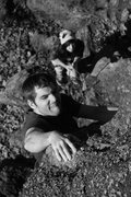 Rock Climbing Photo: this is the money move on flatline... jeff...