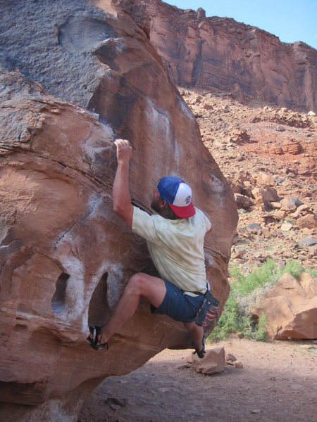 Rock Climbing Photo: Big Bend Boulders, Moab, Utah