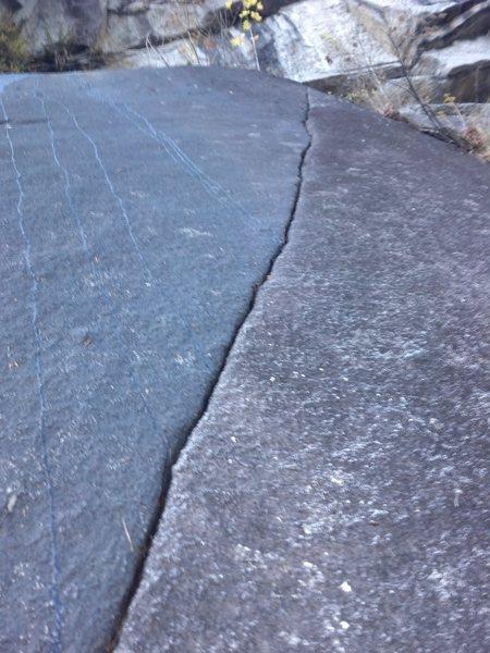 Rock Climbing Photo: The finger crack on p2