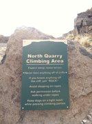 Rock Climbing Photo: Climbing Sign