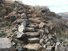 Rock Climbing Photo: New Stairs