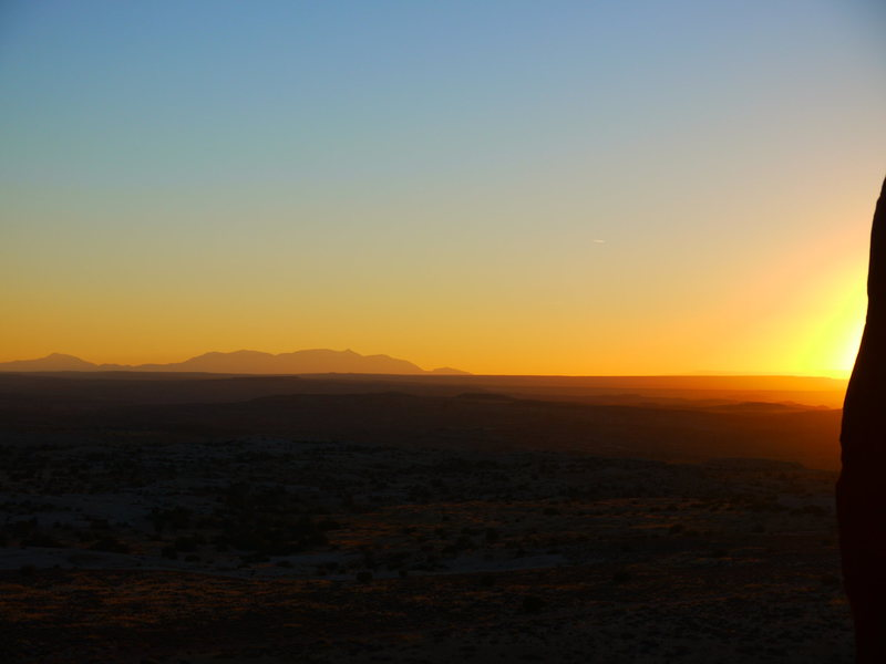 Rock Climbing Photo: Sunset over Canyonlands & the La Sal Mountains as ...