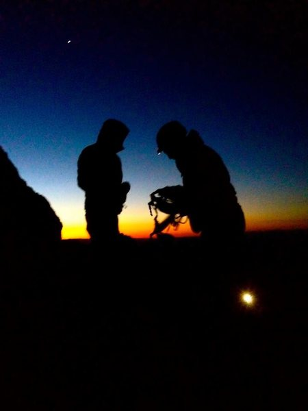 Rock Climbing Photo: Upper saddle Grand Teton