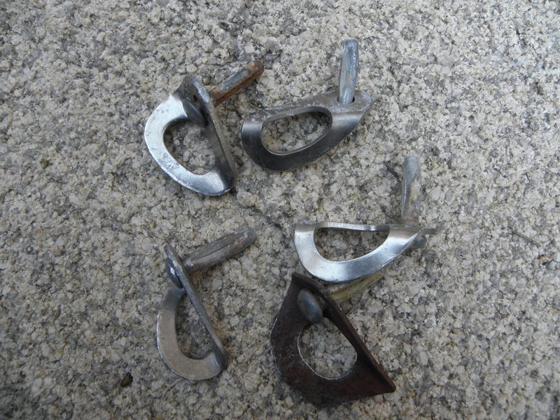 Rock Climbing Photo: Here are the old crappy bolts.....now replaced by ...