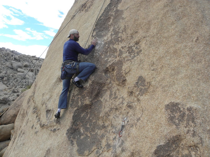 Rock Climbing Photo: Jeff Scofield working his magic on New Hamster.