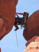 Rock Climbing Photo: first pin
