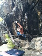 Rock Climbing Photo: First digit fingerlock on The Shadow Boxer V6, Has...