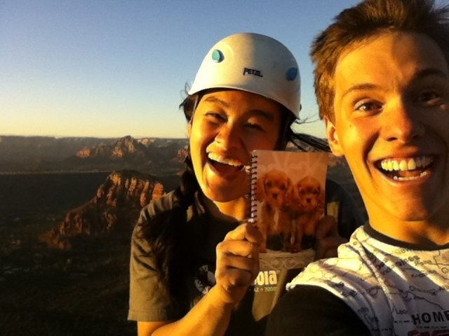 Rock Climbing Photo: New summit log for the Sedona Scenic Cruise