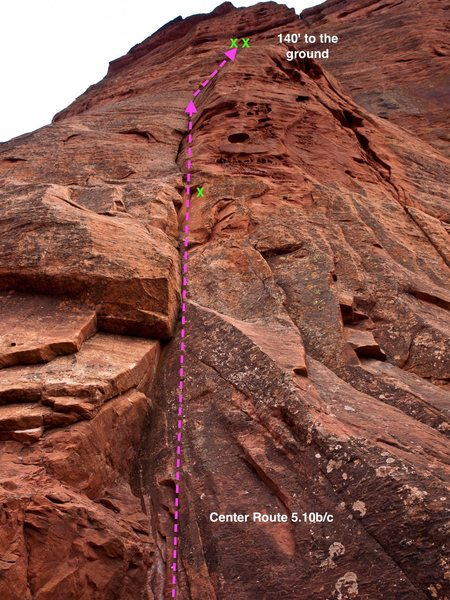 Rock Climbing Photo: Center Route 5.10b/c
