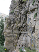 Rock Climbing Photo: The left side of the alcove around the corner from...