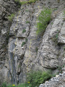 Rock Climbing Photo: The right side of the alcove around the corner fro...