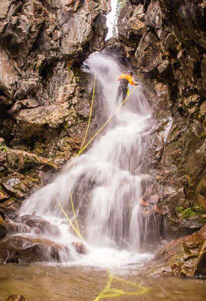 Rock Climbing Photo: North Fork Snake River Falls