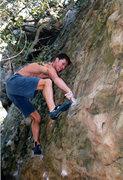 Rock Climbing Photo: The last hard move.