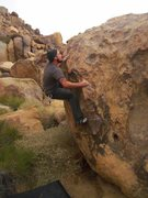 Rock Climbing Photo: Just above the sloper lookin for a reachy knob...
