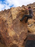 Rock Climbing Photo: Just about to top out, this is the fun part cause ...