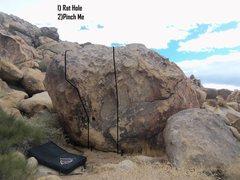Rock Climbing Photo: Beta for South Boulder, North Face