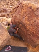 Rock Climbing Photo: Mind the rock in your back lol