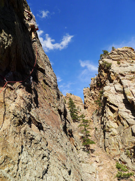 Rock Climbing Photo: ...and higher up P2.