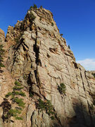 Rock Climbing Photo: Unknown climber on Wind Ridge (taken from The Bulg...