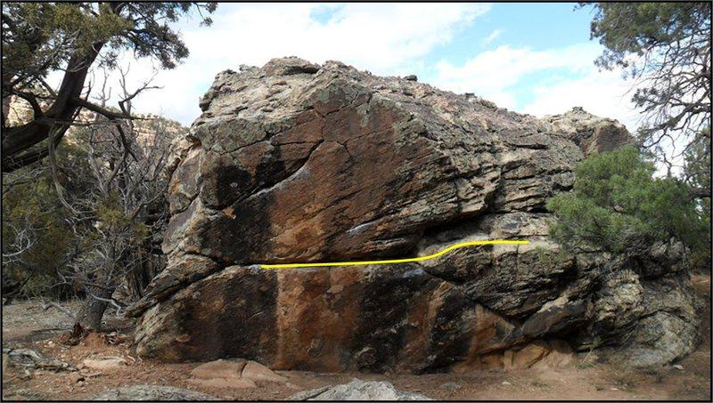 Rock Climbing Photo: Trot Line problem beta on Zevon Boulder.