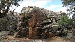 Rock Climbing Photo: Va Va Voom problem beta.