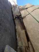 Rock Climbing Photo: N.A. chimneying la Cosita left.