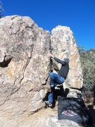 Rock Climbing Photo: Using the nice pinch with left hand after sit lung...