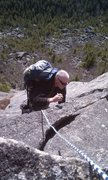 Rock Climbing Photo: Probably pitch 2 of the AMC route at Tumbledown Mt...