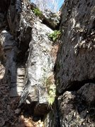 Rock Climbing Photo: v-groove start