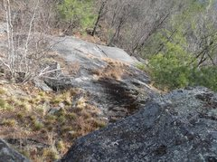 Rock Climbing Photo: The view down and the reality check was I had to g...