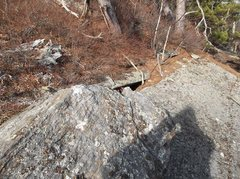 Rock Climbing Photo: On the top and the exit finish is on the opposite ...