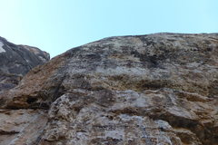 Rock Climbing Photo: Looking up from the bottom. Steep.