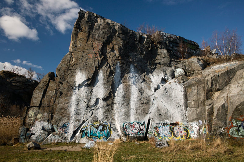 Rock Climbing Photo: Quincy Quarries K Wall.