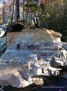 Rock Climbing Photo: Sumner on top.