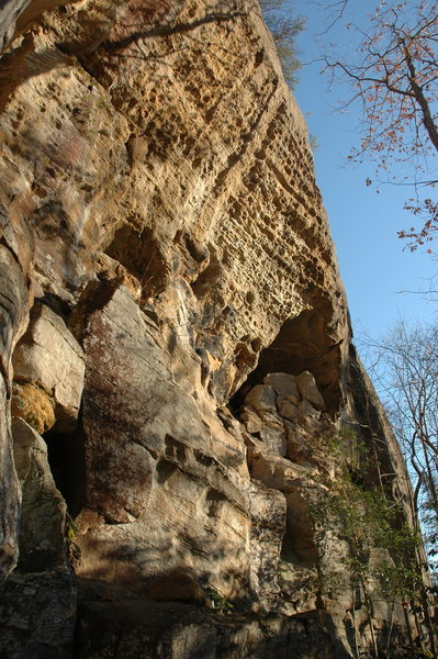 Rock Climbing Photo: Malice is the line up the center.