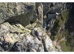 Rock Climbing Photo: This is the top of the rappel.  Go to Buttress, th...