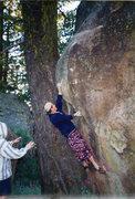 Rock Climbing Photo: Fashion icon Steve Edwards entering the crux seque...