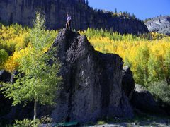 Rock Climbing Photo: Camp Bird boulders in Ouray, CO