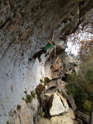 "Rock Climbing Photo: Rachel just hitting the bottom of the ""Flake&..."
