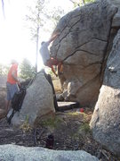 Rock Climbing Photo: climbing a variation of Loony Toons