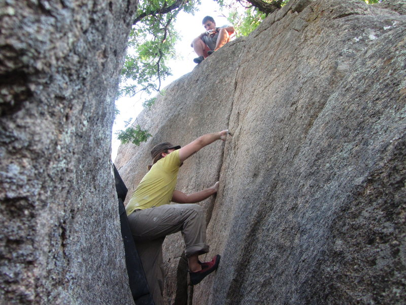 Rock Climbing Photo: Hand to Hand Combat