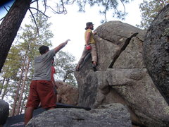 Rock Climbing Photo: Luke Bollinger climbing Final Episode