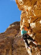 Rock Climbing Photo: Below the bulge.