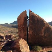 Rock Climbing Photo: Working my first chimney climb with Andy motivatin...