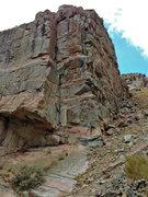 Rock Climbing Photo: The Chill Arete 5.11c/d.  Climbs the bulbous arete...